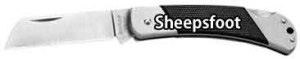 Knife Blade Types - Sheepsfoot
