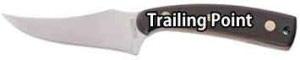Pocket Knife Blade Shapes - Trailing Point